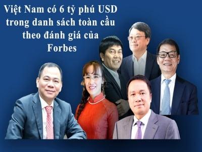 Việt Nam có 6 tỷ phú USD trên xếp hạng toàn cầu