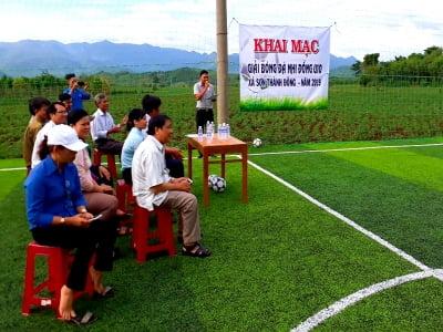 Khai mạc giải bóng đá Nhi đồng U10 xã Sơn Thành Đông, huyện Tây Hòa, Tỉnh Phú Yên.
