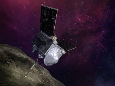 Tàu vũ trụ của NASA làm rơi vãi mẫu vật chất của tiểu hành tinh ra không gian