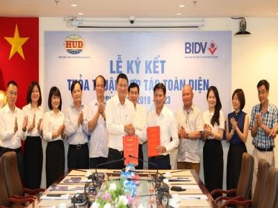 Ngân hàng TMCP Đầu tư và Phát triển Việt Nam (BIDV) và Tổng công ty Đầu tư phát triển nhà và đô thị (HUD) đã ký kết Thỏa thuận hợp tác toàn diện giai đoạn 2019-2023.